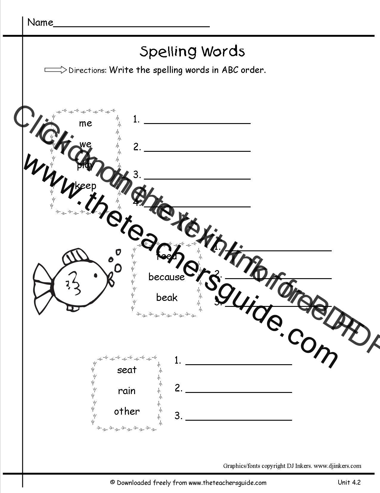 Wonders First Grade Unit Four Week Two Printouts