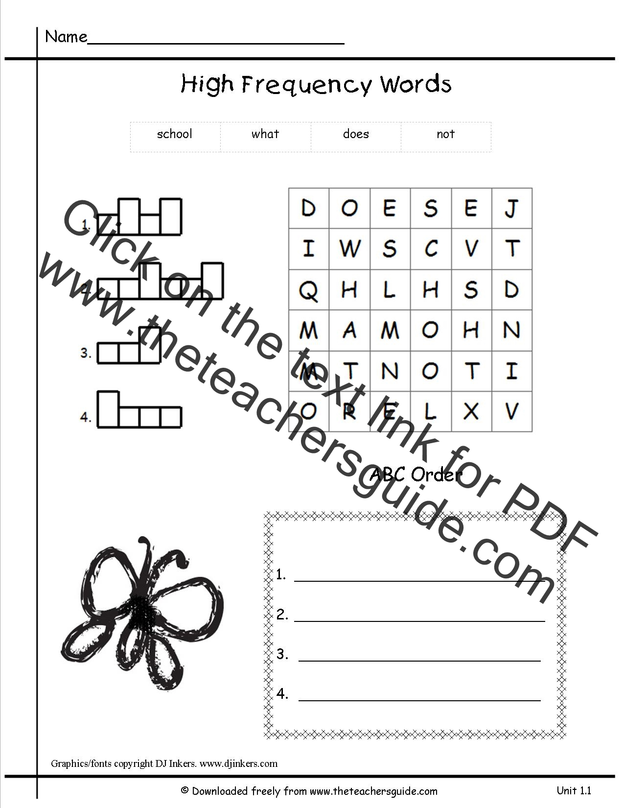 Wonders First Grade Unit One Week One Printouts