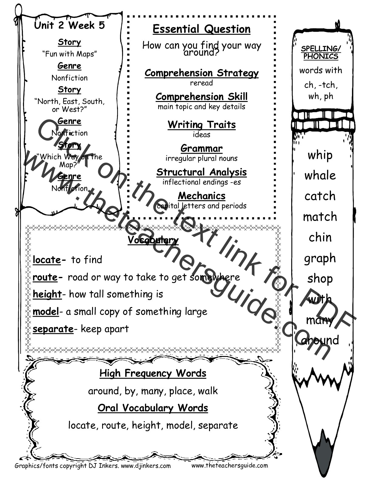Grade 5 Unit 4 Spelling Worksheet