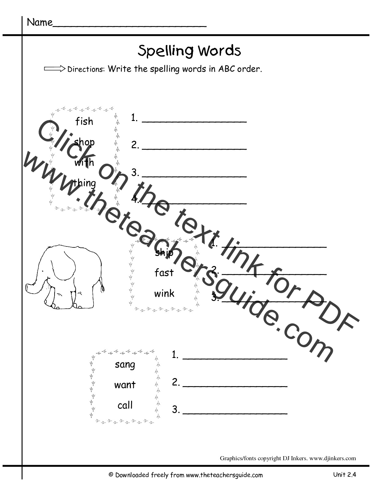 Easter Abc Order Worksheet