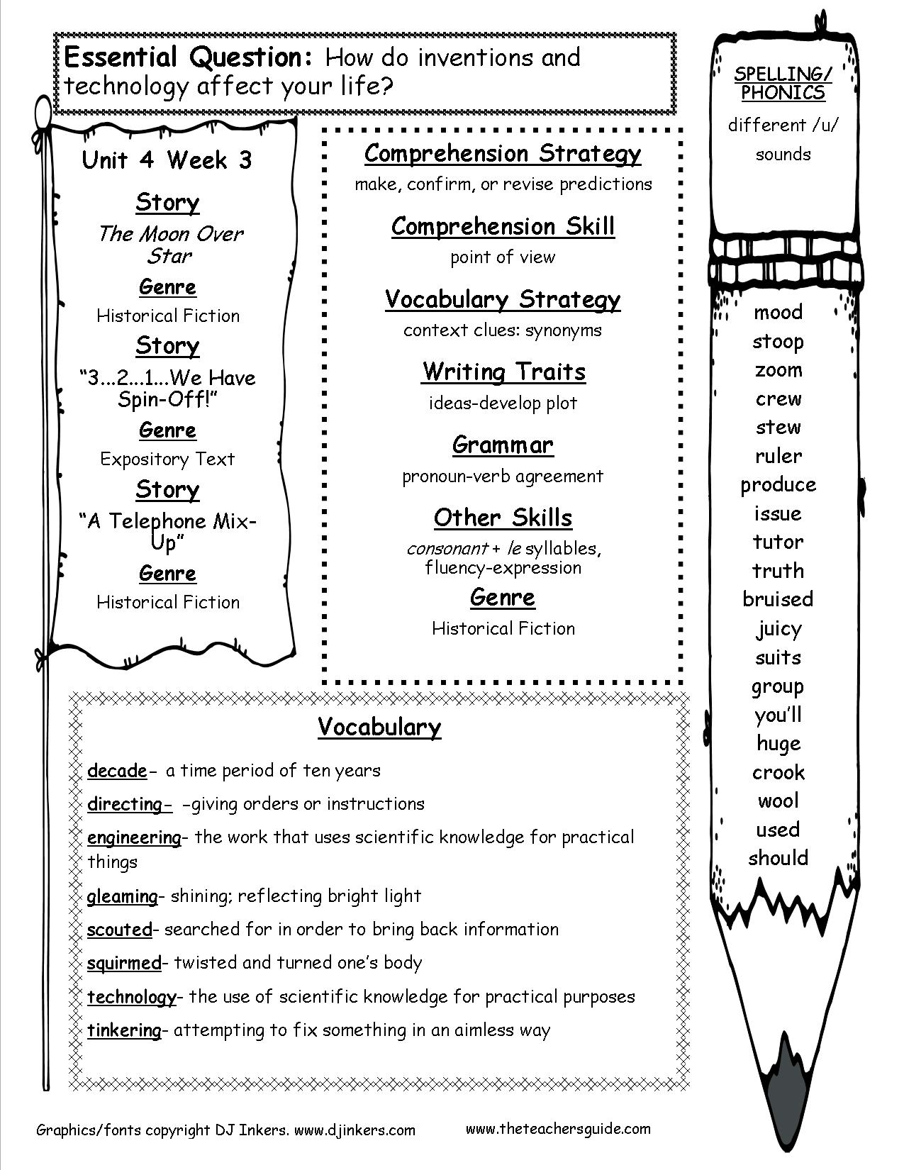 4th Grade Spelling Worksheets