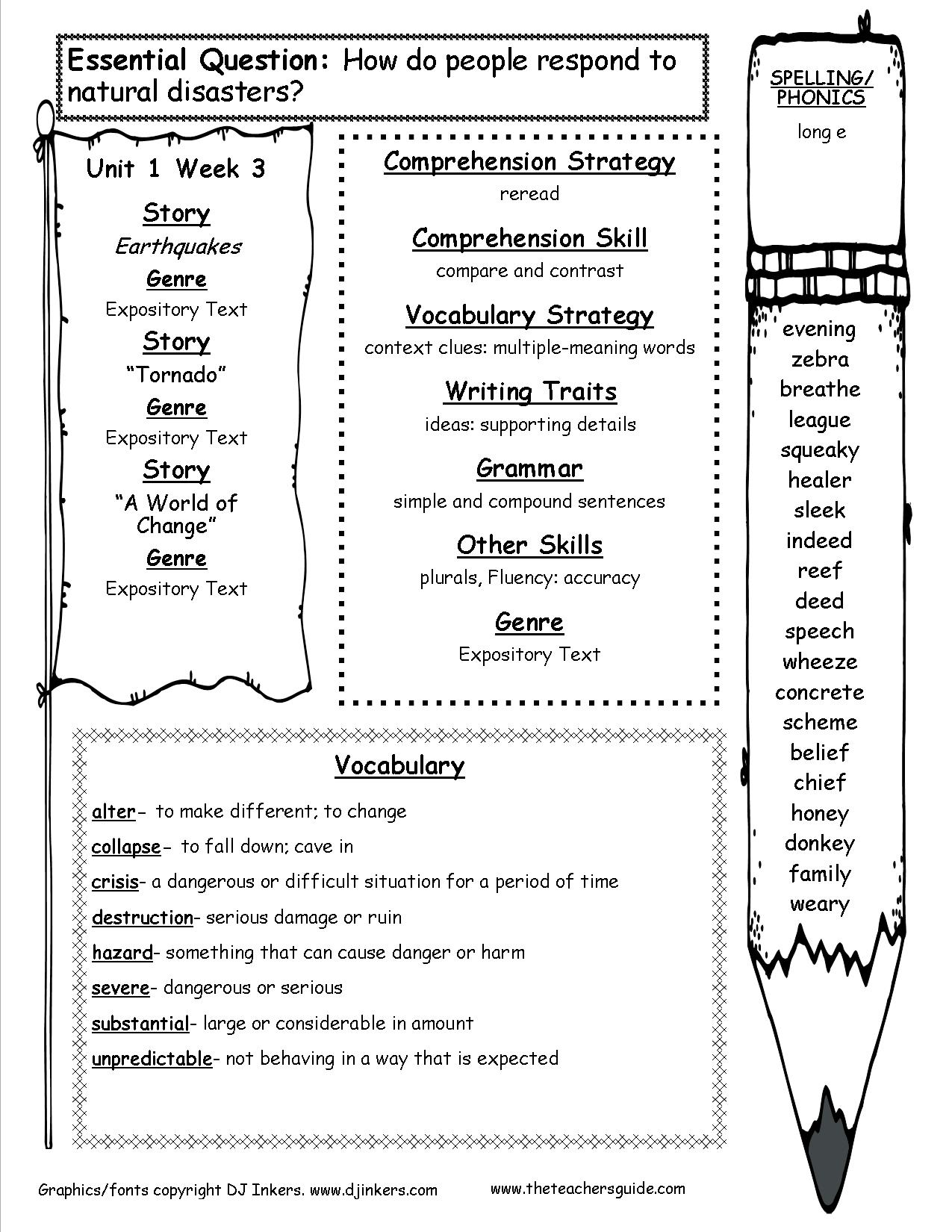Hurricane Worksheet For 4th Grade