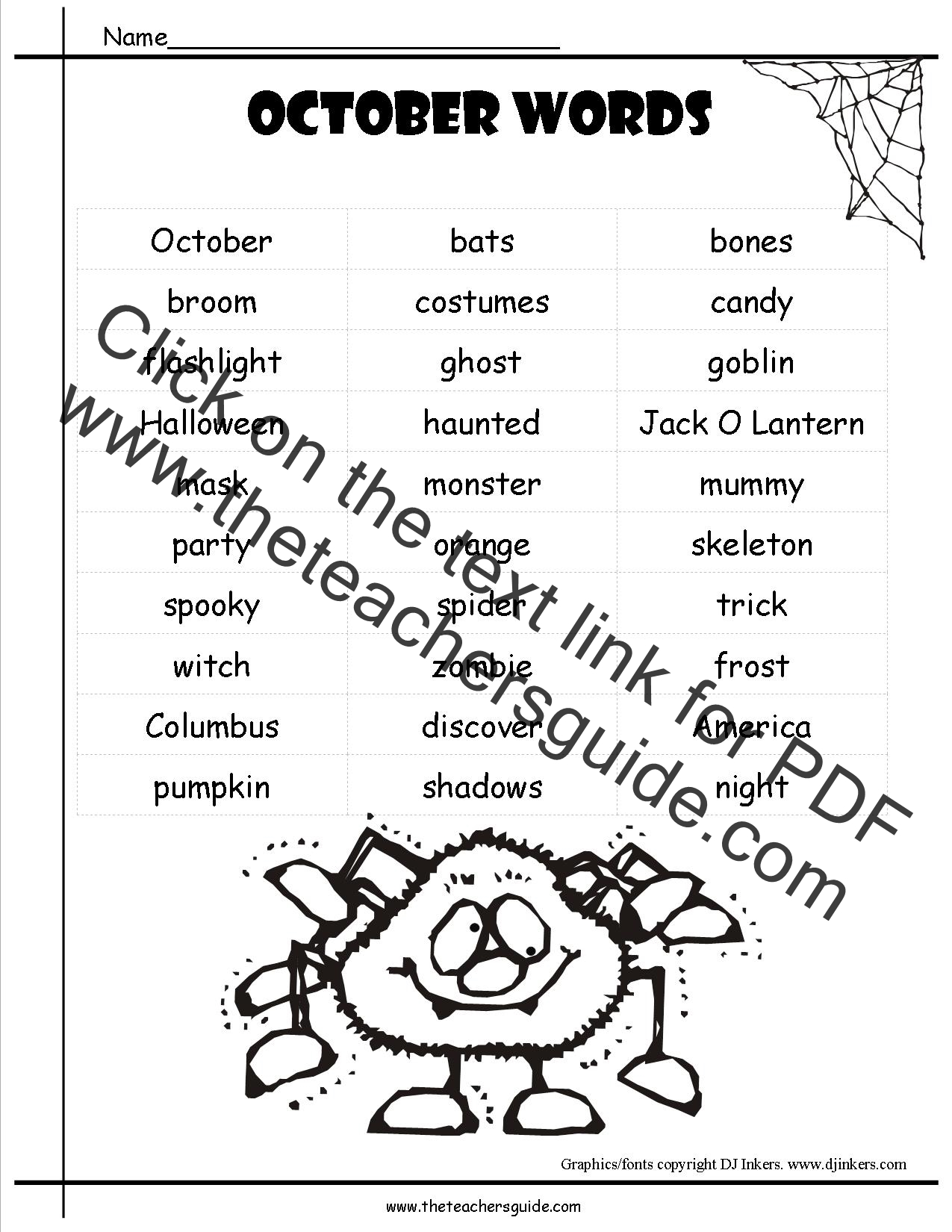 October Lesson Plans Themes Printouts Crafts And Holidays