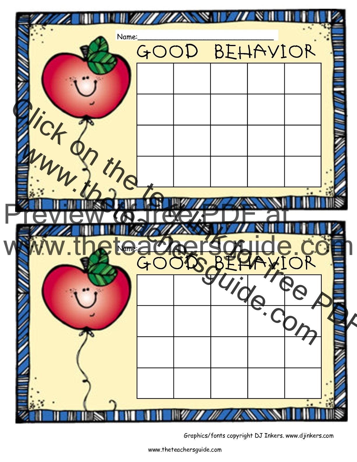 Free Printable Reward And Incentive Charts