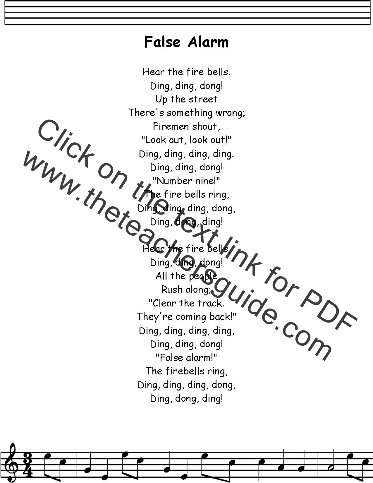 False Alarm Lyrics Printout Midi And Video