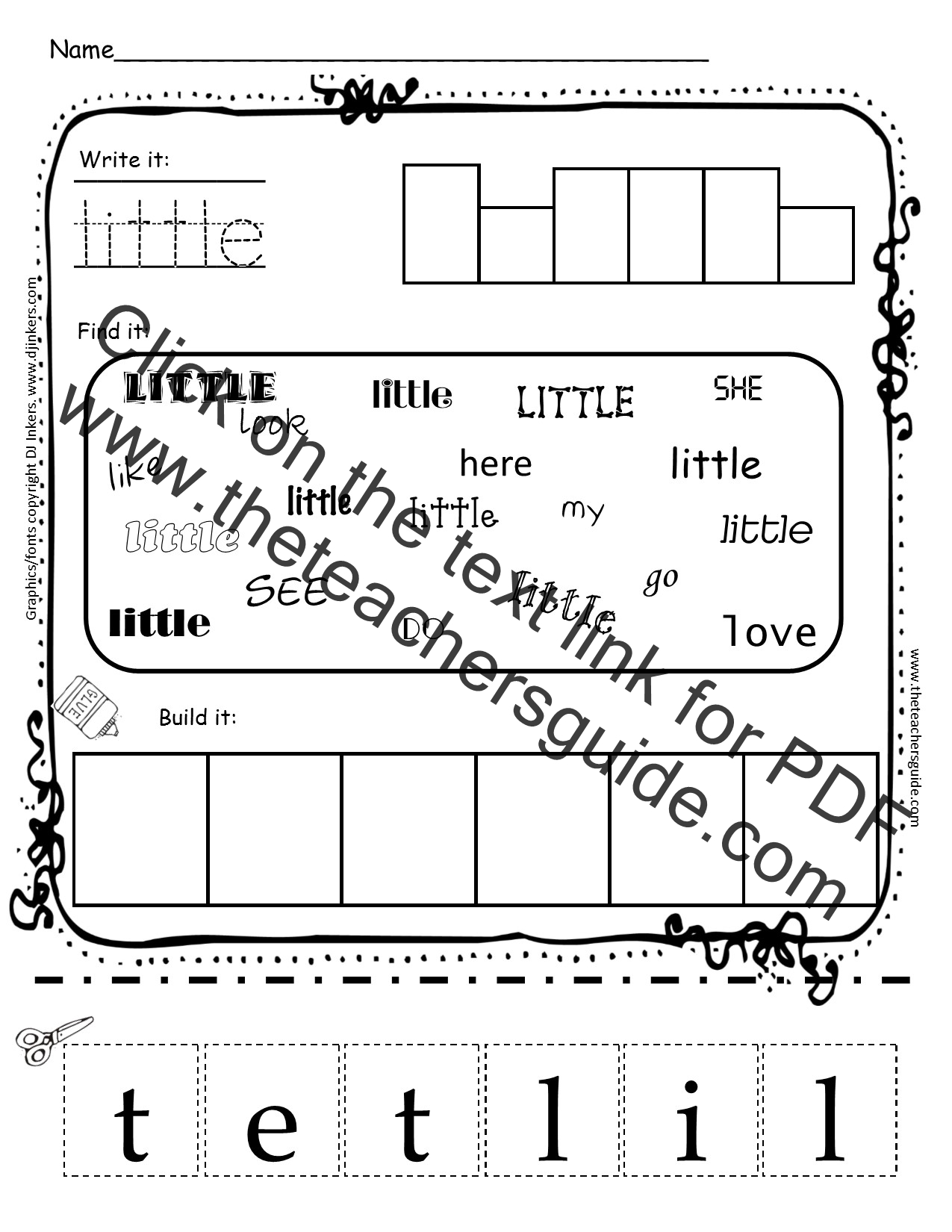 My Little Pony Kindergarten Worksheets