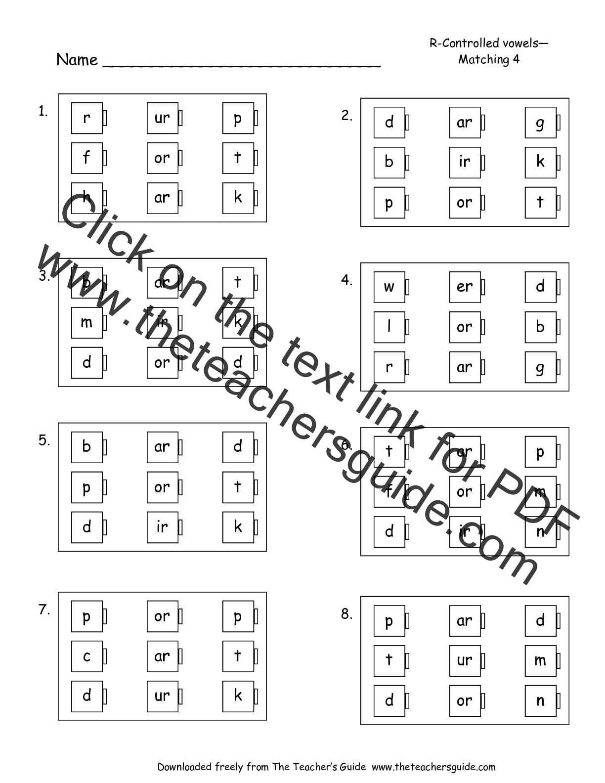 Ir Phonics Worksheets