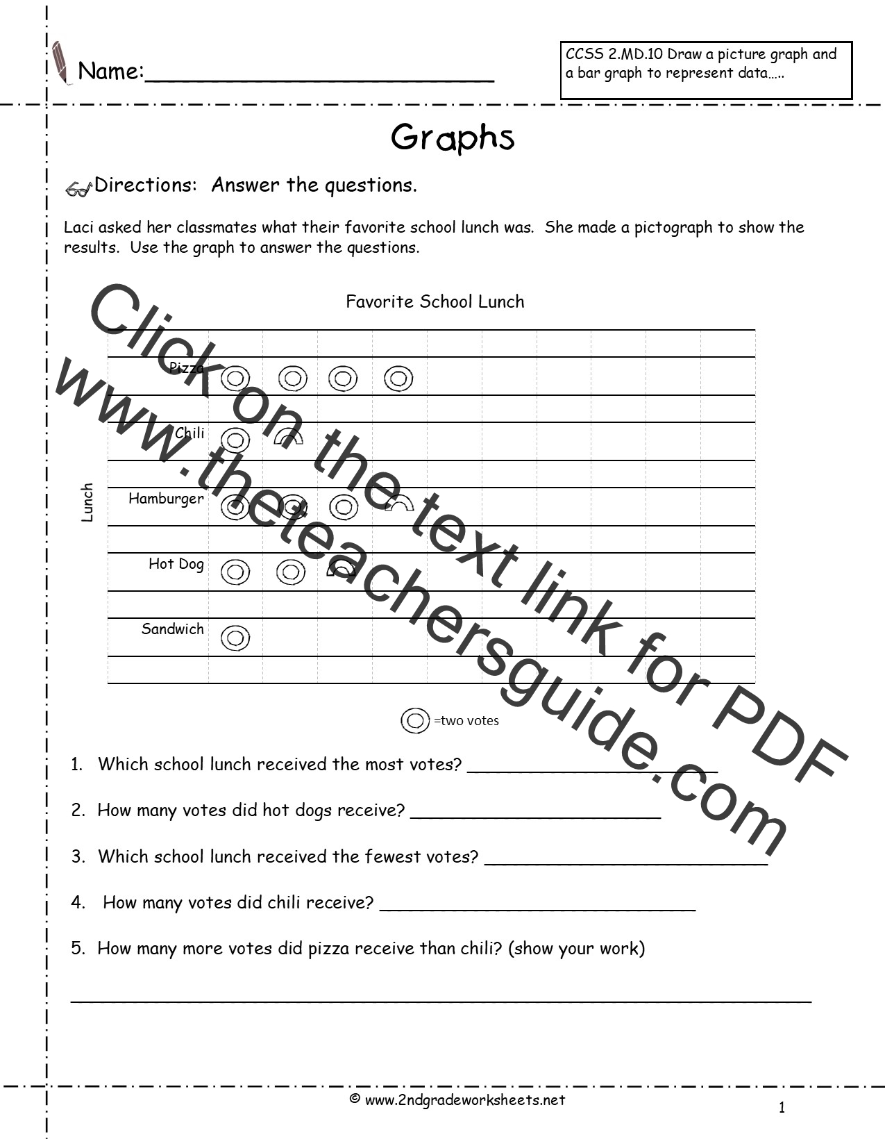Reading And Creating Pictographs Worksheets From The