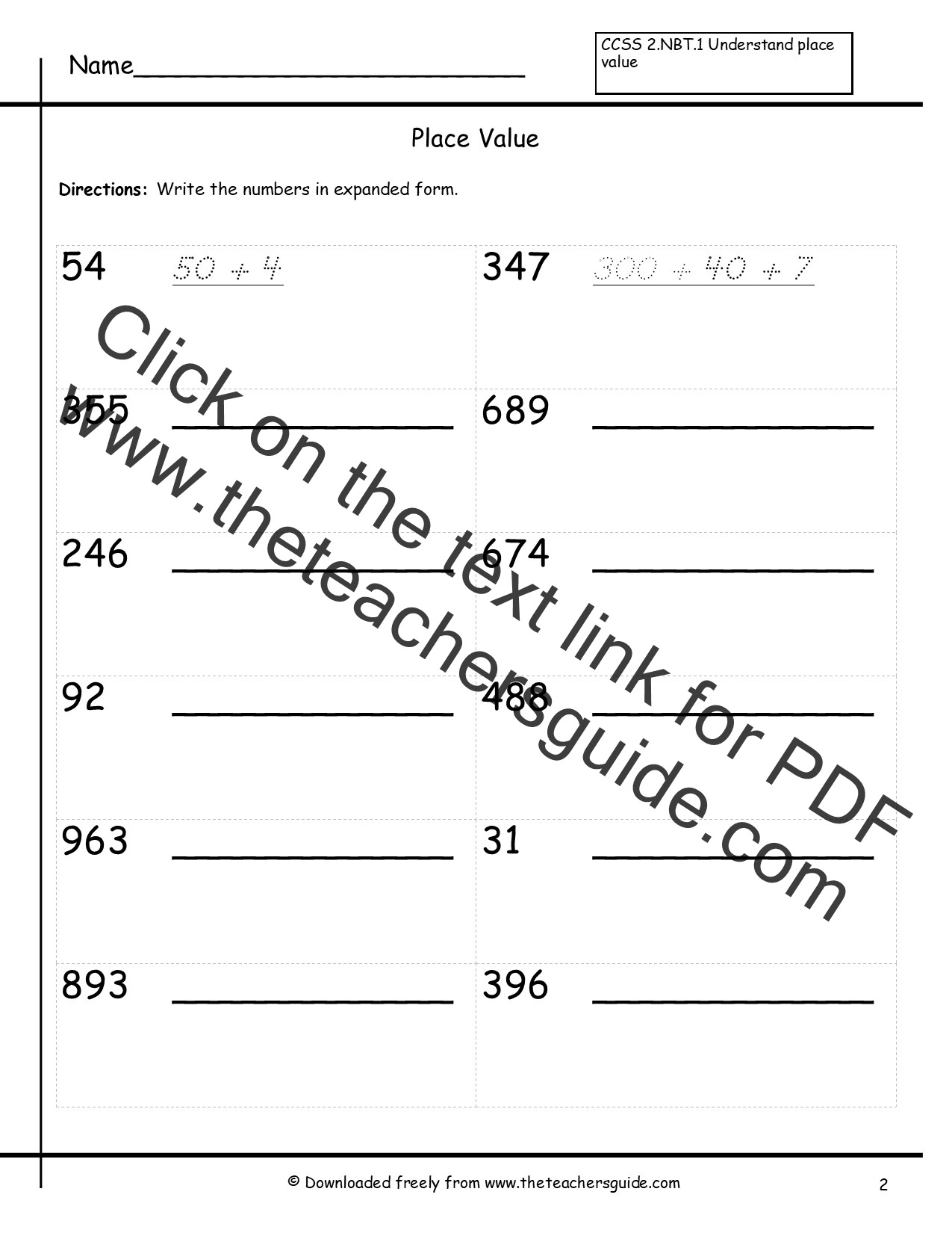 Writing Decimals In Expanded Form With Exponents Worksheet