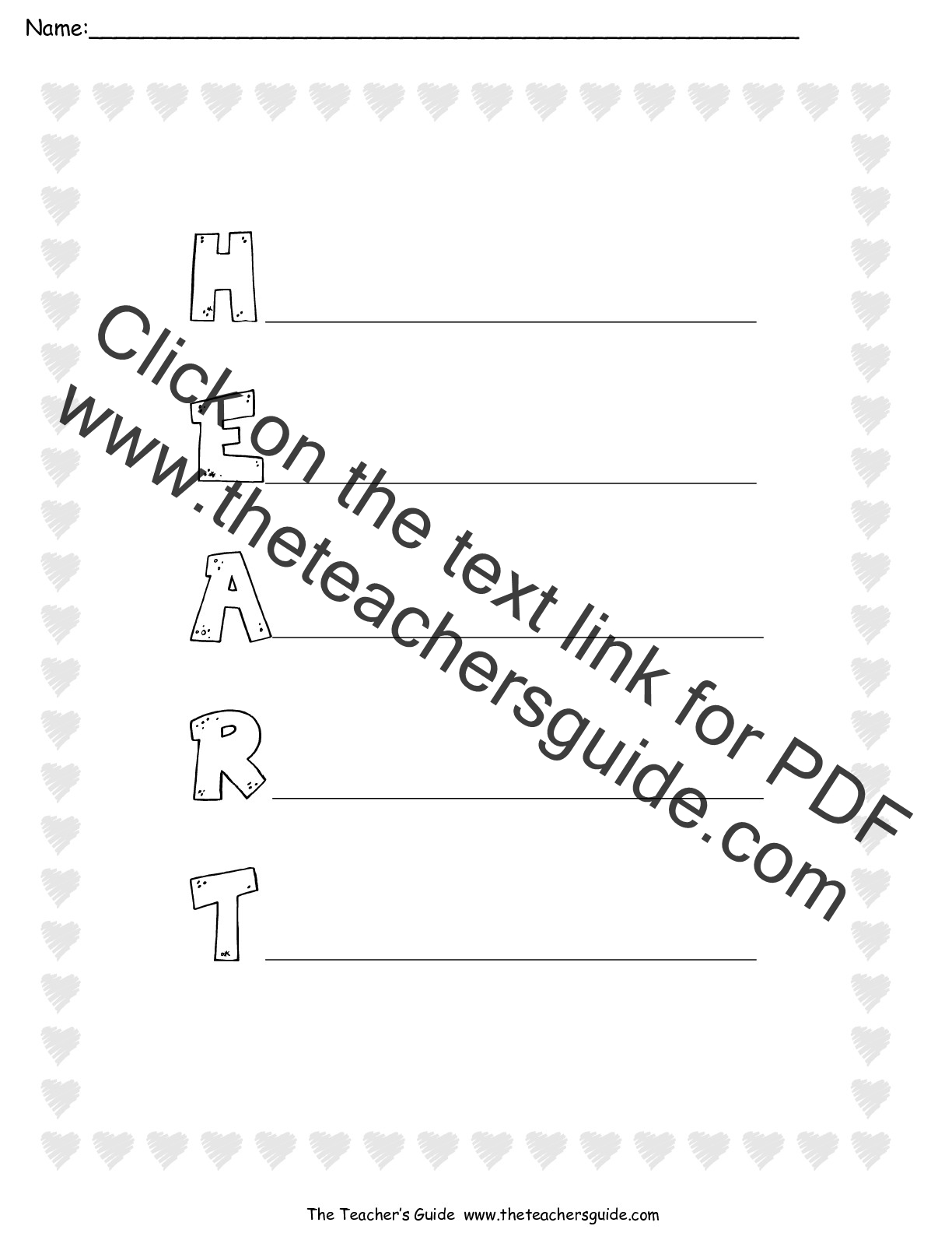 Acrostic Poems Worksheets From The Teacher S Guide