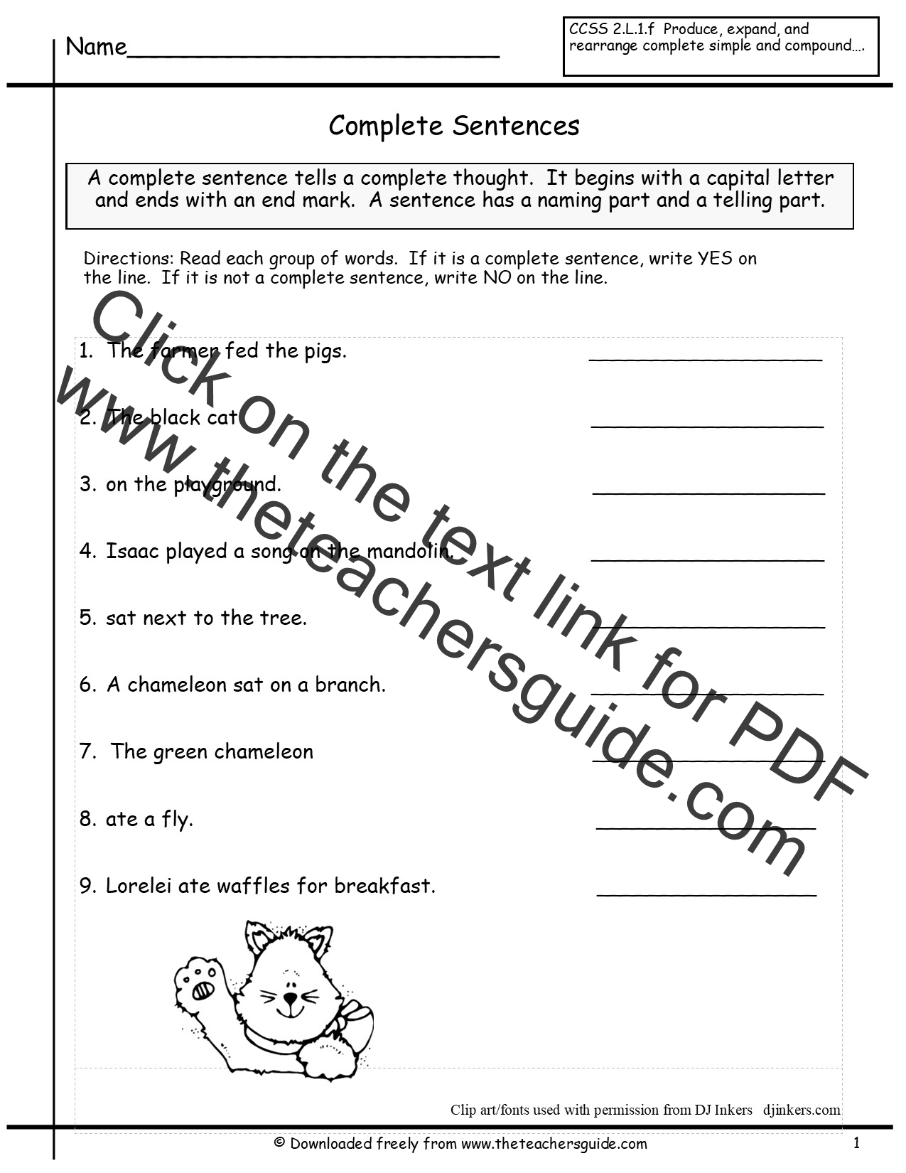 Free Writing And Language Arts From The Teacher S Guide