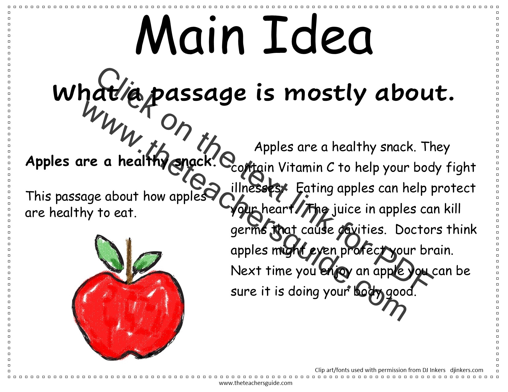 Reading Comprehension And Story Elements Printable Cards From The Teacher S Guide