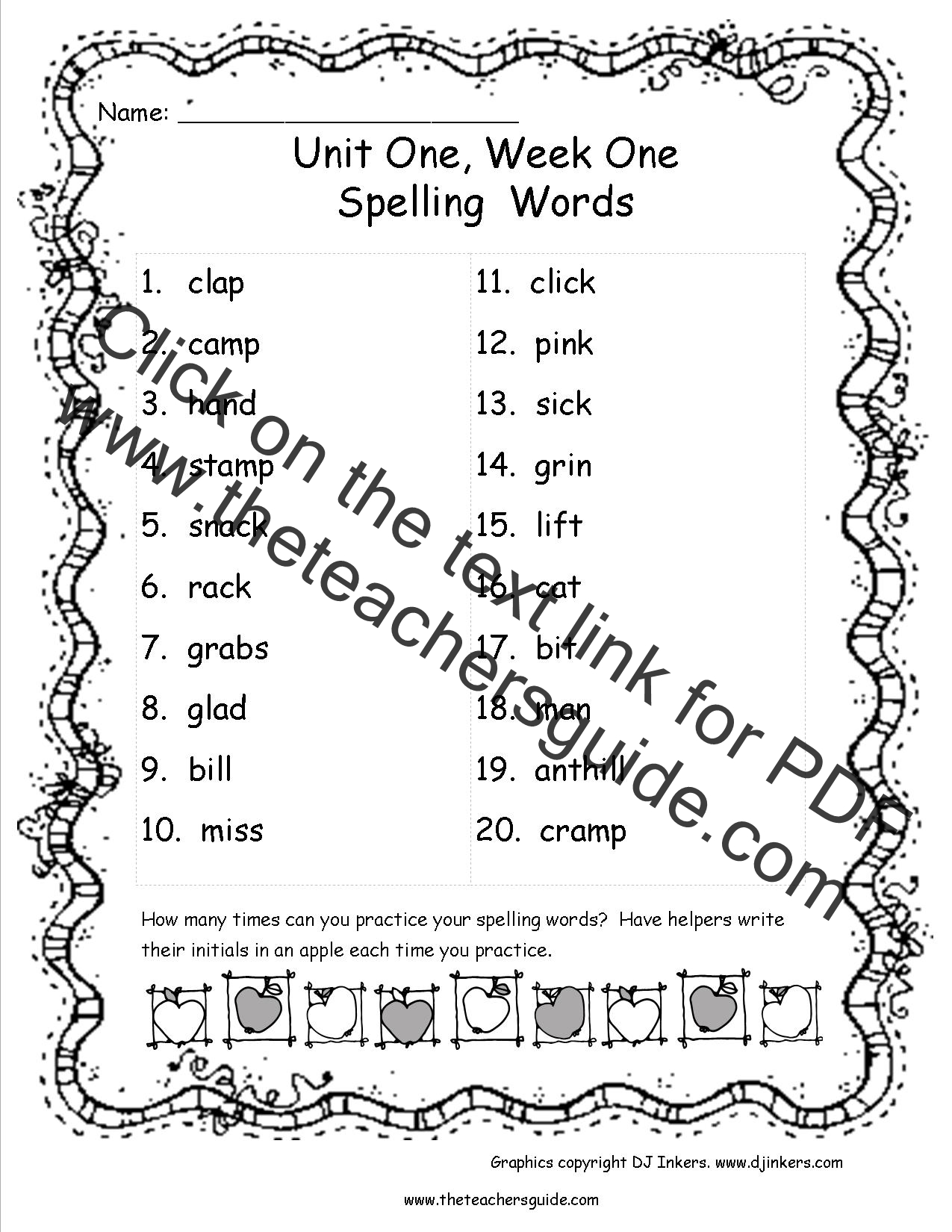 Wonders Third Grade Unit One Week One Printouts