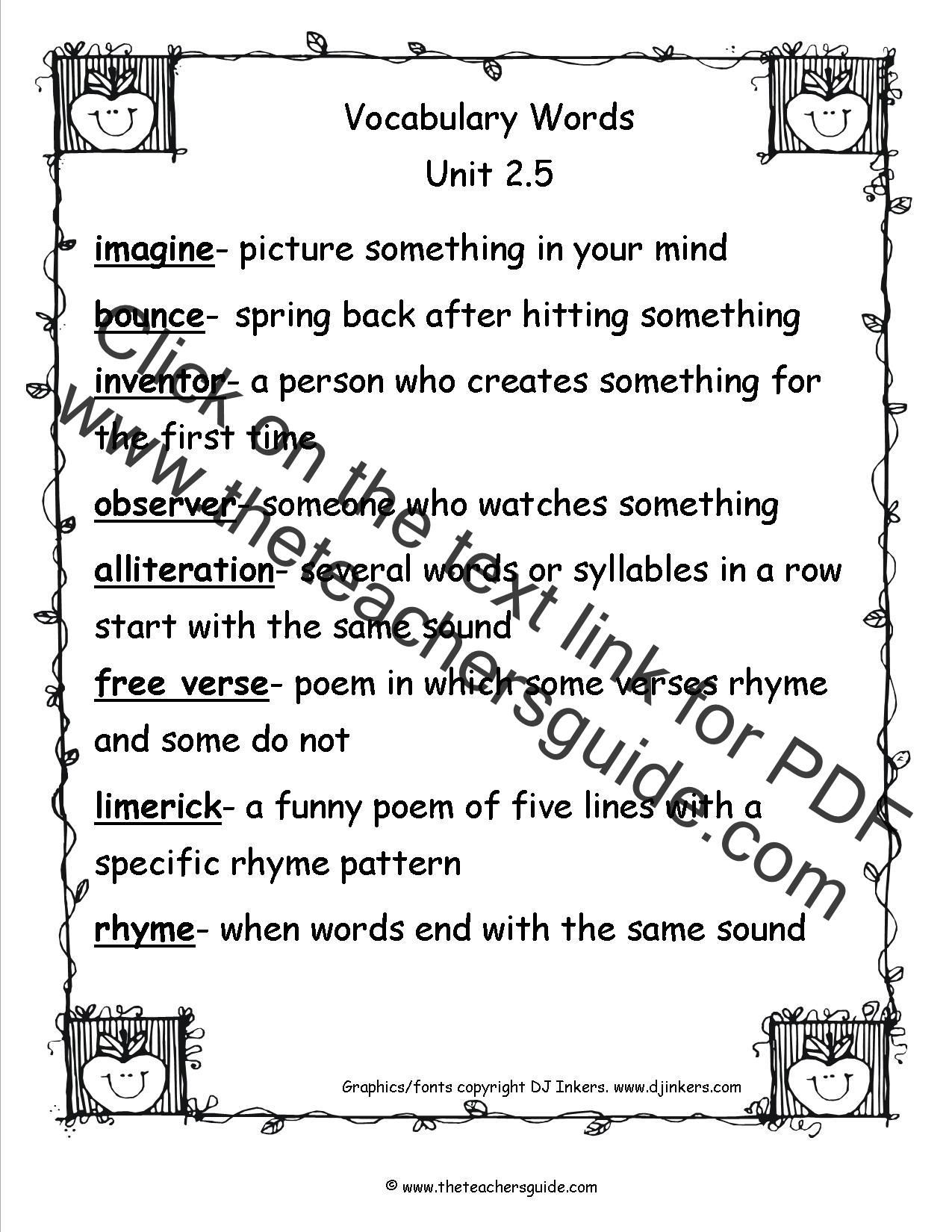 Wonders Third Grade Unit Two Week Five Printouts