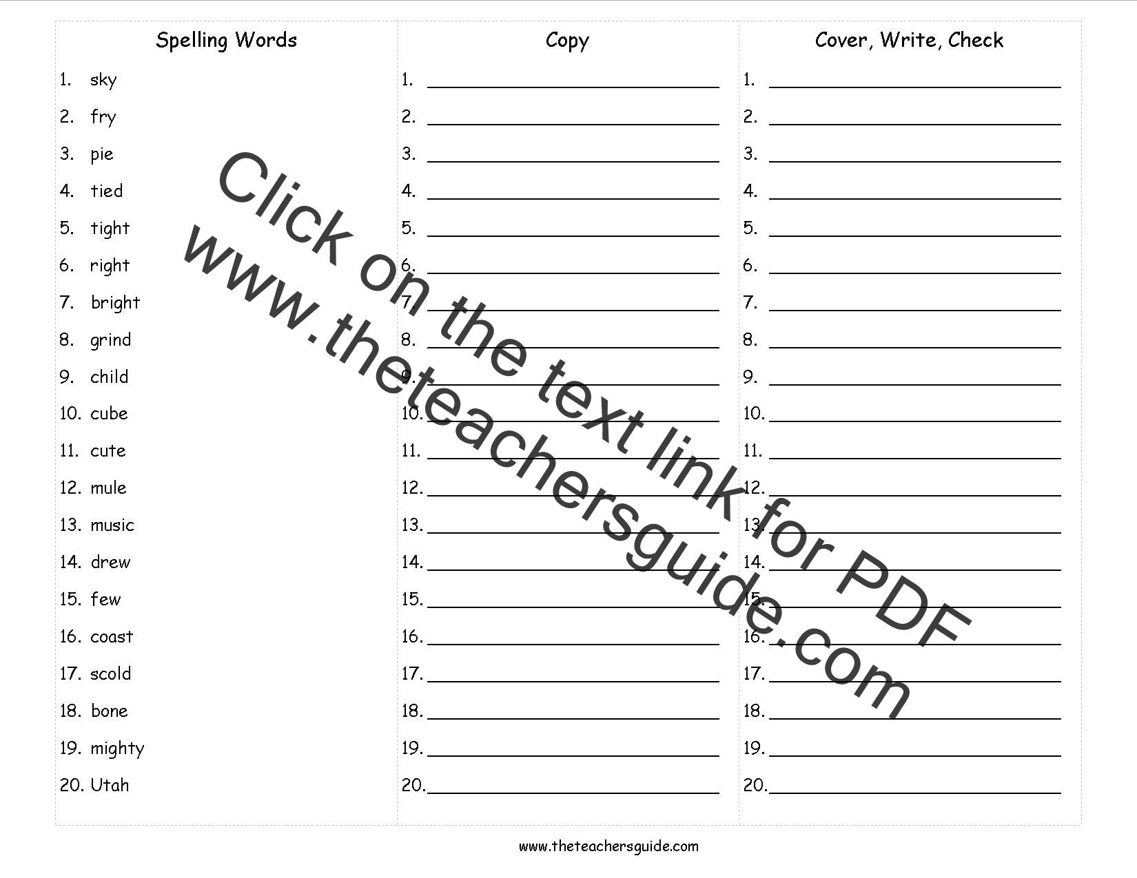 Spelling Test Games For Grade 6