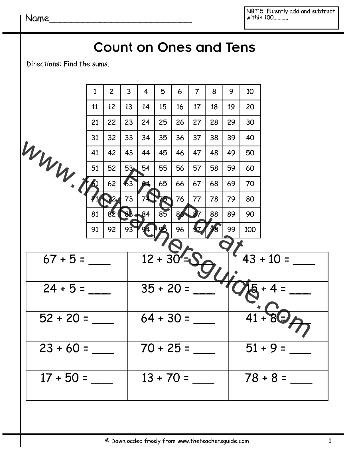 New 660 Worksheet Counting By 10s