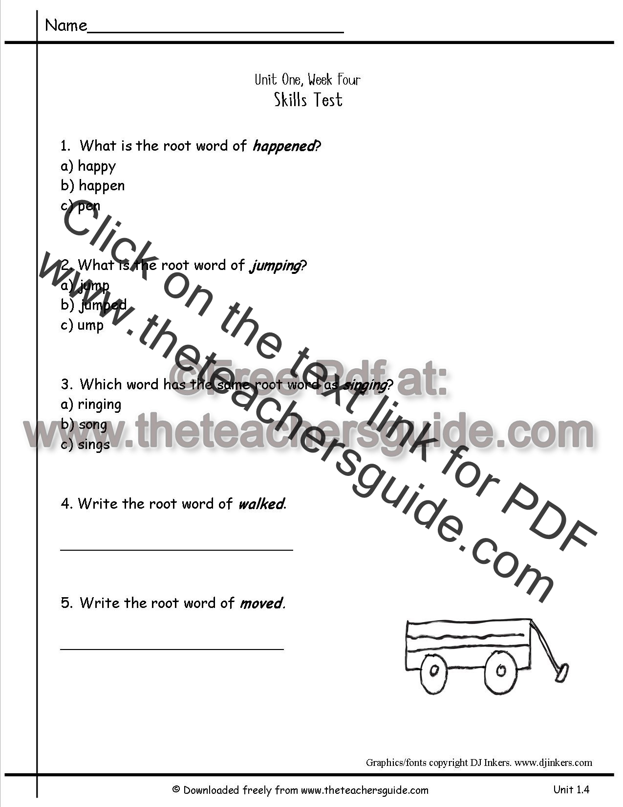 Wonders Second Grade Unit One Week Four Printouts