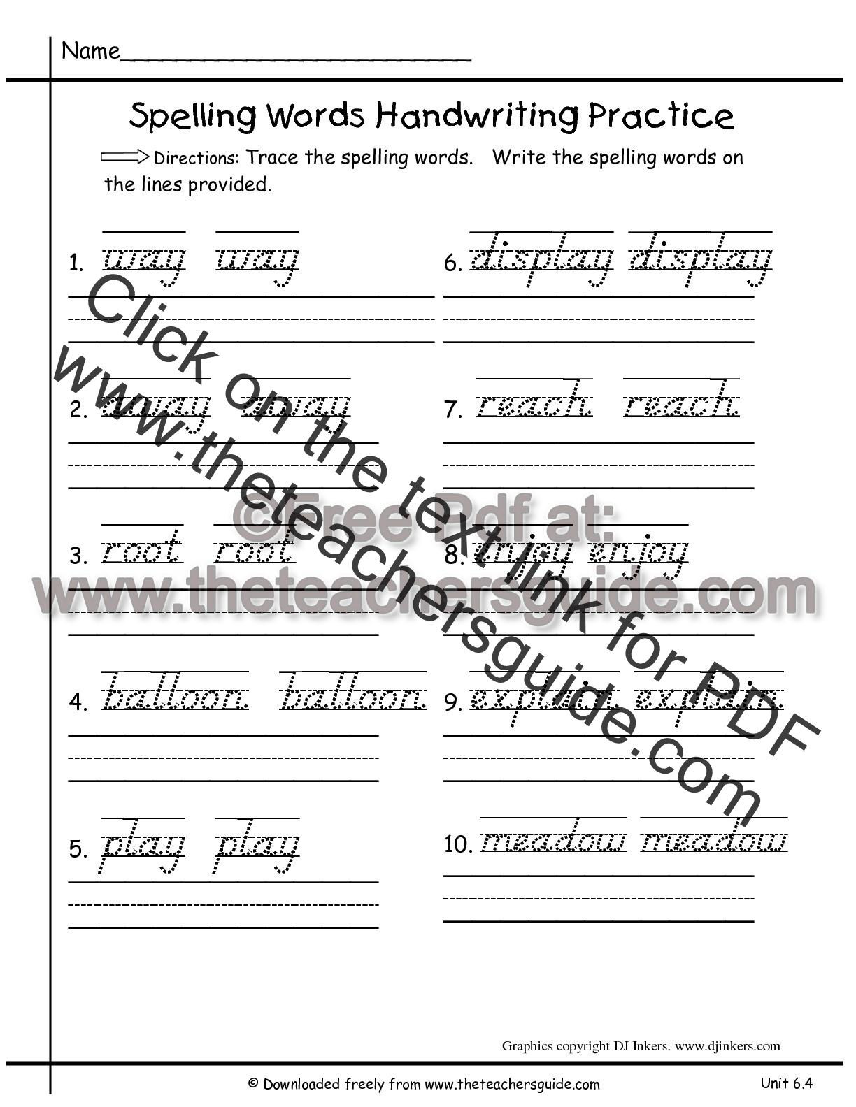 Wonders Second Grade Unit Six Week Four Printouts