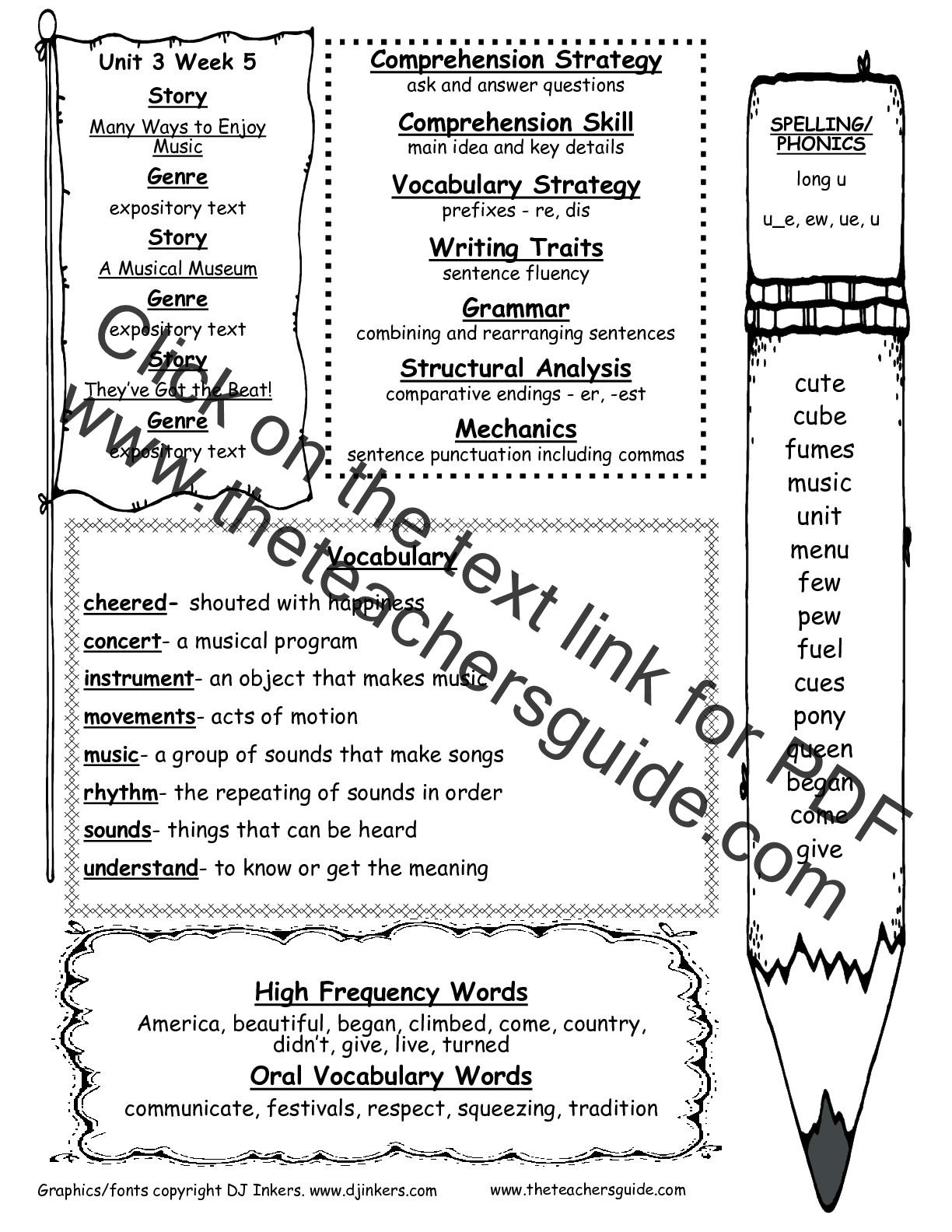 Phonics Spelling Grade 5 Unit 1 Week 3 Answer Key