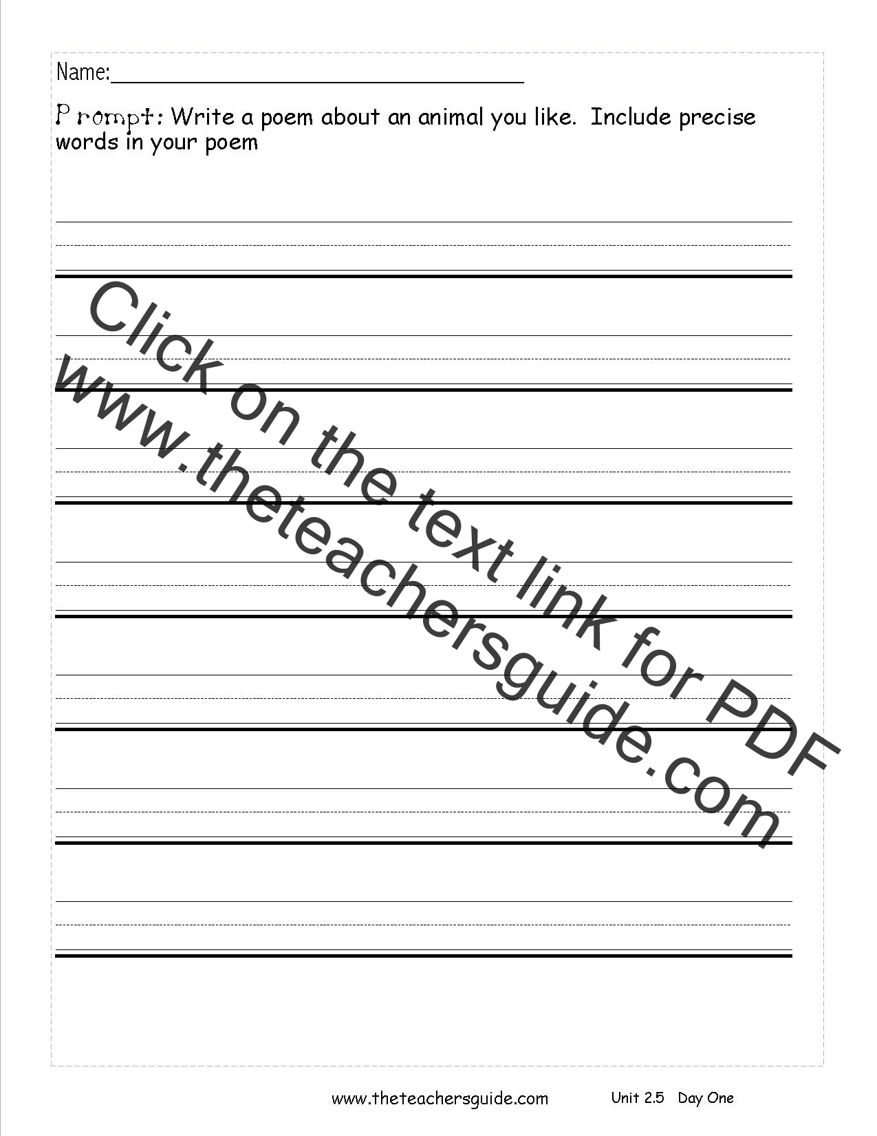 Writing Prompts For 2nd Graders