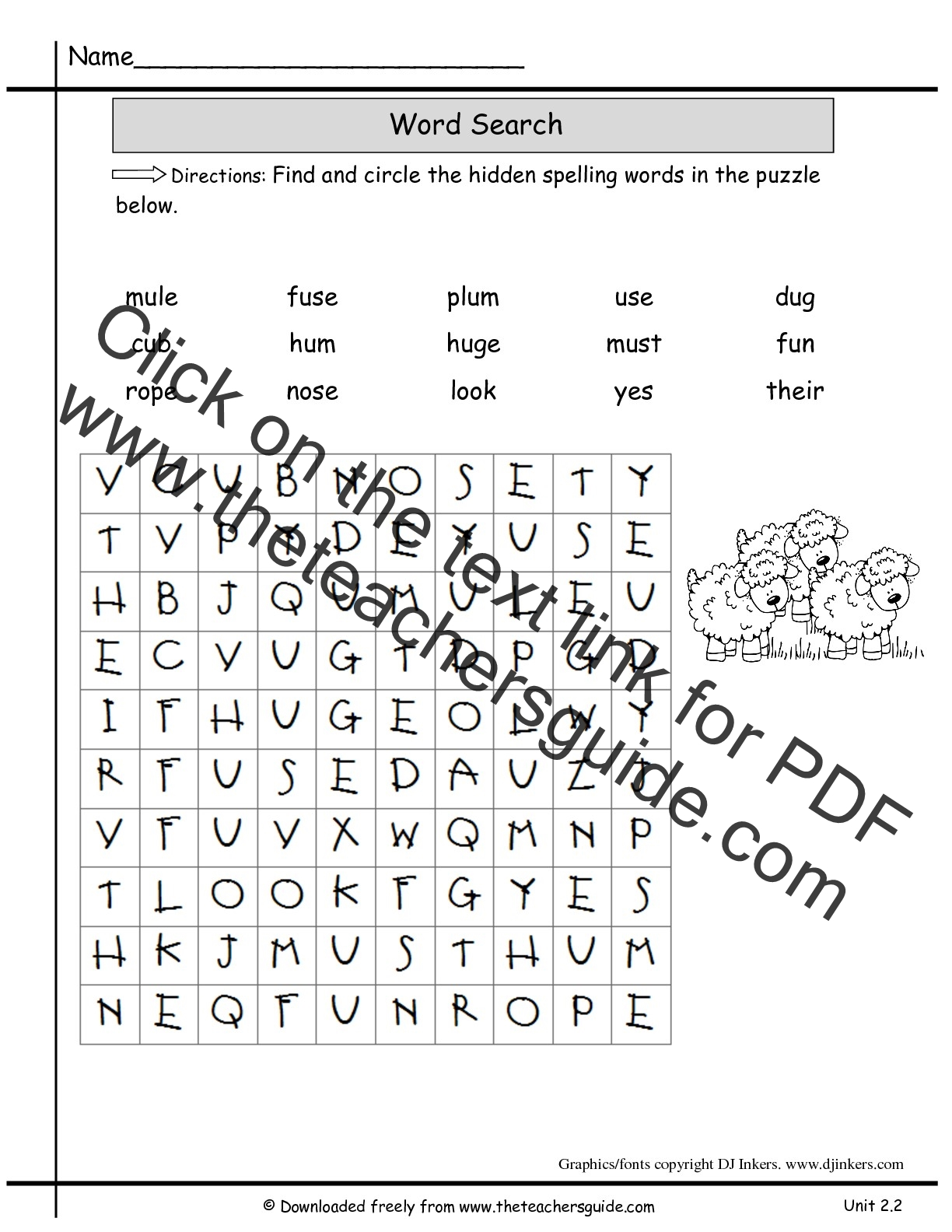 2nd Grade Spelling Worksheets