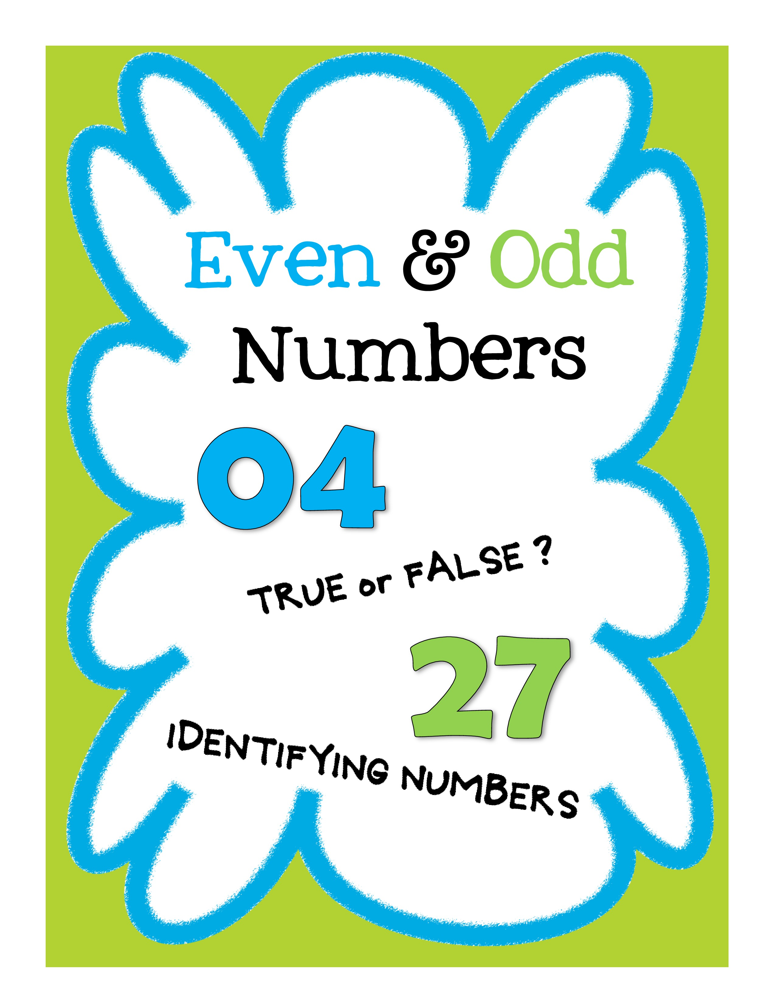 Even And Odd Number Worksheets Assessment And Activities