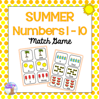 Summer Numbers Match Game