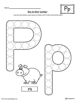 All Worksheets Preschool Letter P Printable
