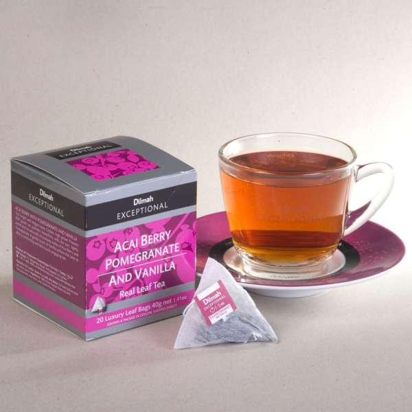 dilmah exceptional acai berry pomegranate cup
