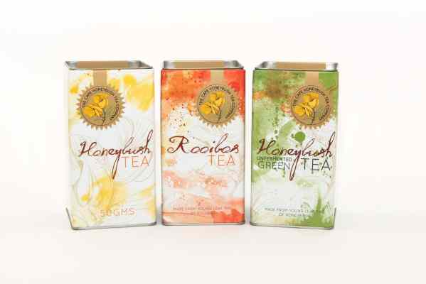 Cape Honeybush Tea Company Square tin range