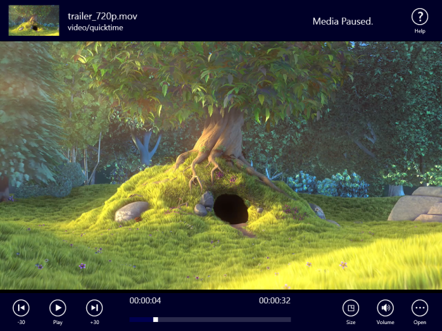 metro media player app for windows 8