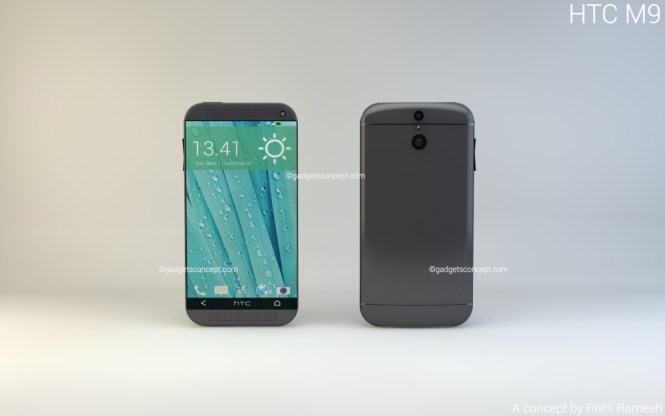 HTC One M8 Front Back