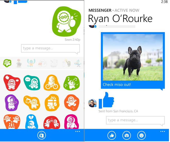facebook messenger 5.0 app updated