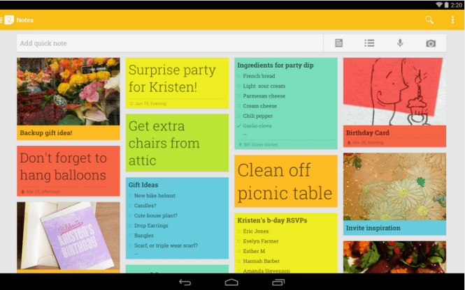 google keep-best alternative of evernote