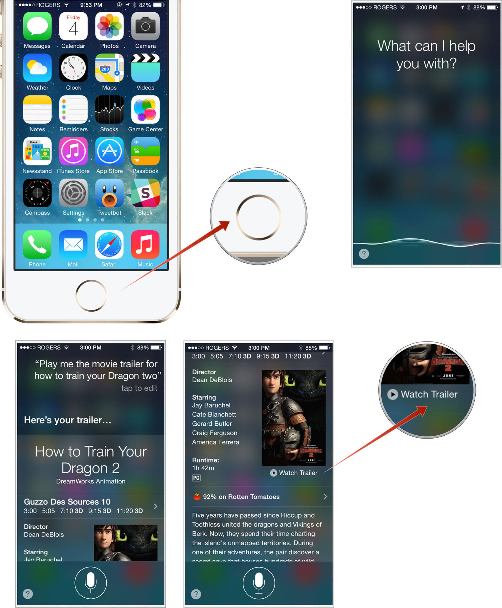 how to watch movie trailers on iphone and ipad with siri