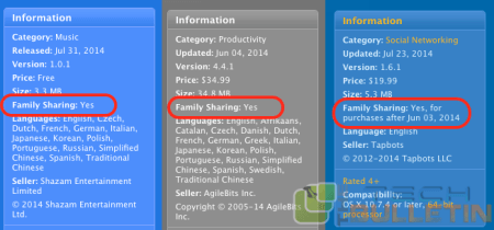 family sharing feature