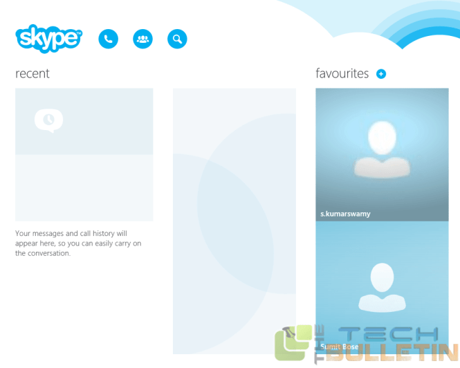 skype updated for Windows 8.1 operating system