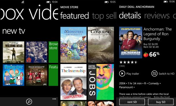 xbox-video app updated