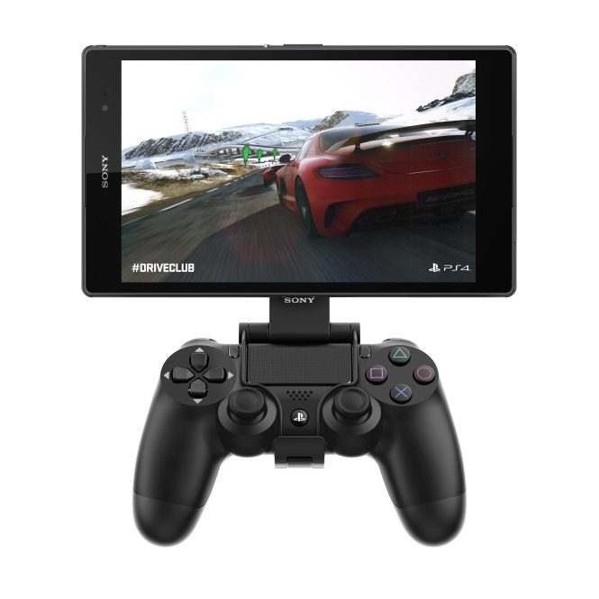 Sony Xperia Z3 tablet compact with PS4 console