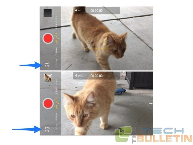 How to toggle slow motion speed on iPhone 6 and 6 Plus