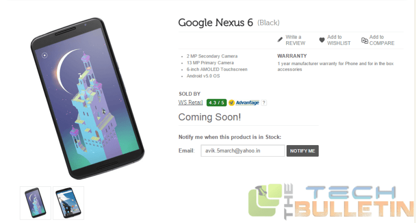 The Stock with 6 New Nexus Will Come Wednesday of Each Week