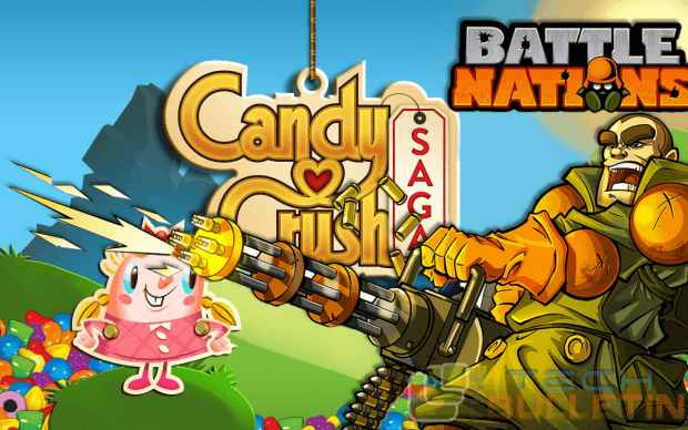 Candy crush saga and battle nations