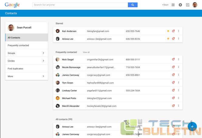 New google contacts