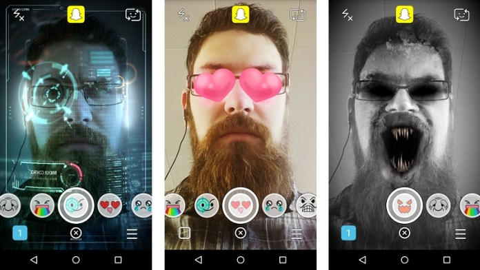 Selfie lenses android