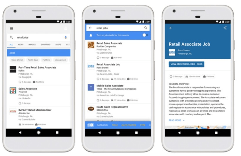 Google wants to help you find jobs without leaving search