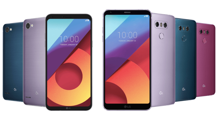 LG G6 launching in Moroccan Blue, Lavender Violet, and Raspberry Rose