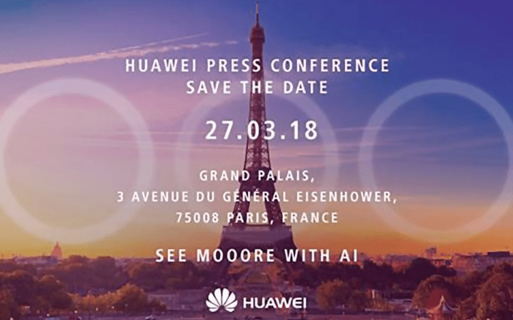Huawei press invite suggests triple-camera phone on P20