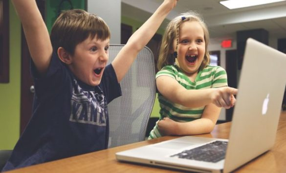 Image result for kids using tech