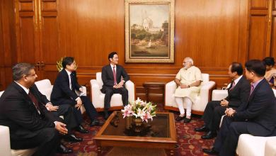 Narendra Modi and Samsung's Vice Chairman Jay Y. Lee