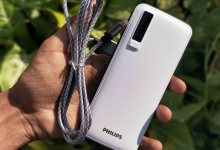 Philips powerbank with apple lightning cable
